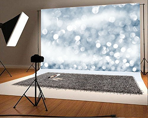 LFEEY 7x5ft White Mist Bokeh Backgrouond Backdrop Blurry Sparkle Dots Stage Light Wedding Party Photo Studio Props Video Back Drop Kids Adults Girls Boys Portrait Photography from LFEEY