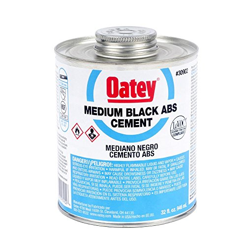 Oatey Abs Cement - Oatey 30902 ABS Medium Cement, Black, 32-Ounce