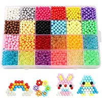 Beetest 3600PCS 24 Colors Craft Sticky Beads for Kids Children DIY Crafting Educational DIY Toys