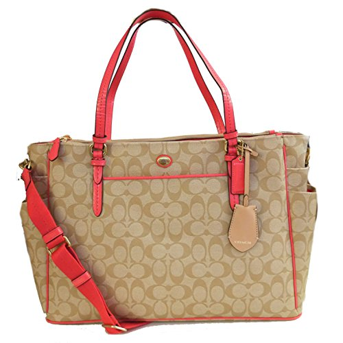 Coach Peyton Multifunction Baby Diaper Travel Laptop Bag (Coach Peyton Signature Multifunction Tote And Diaper Bag)