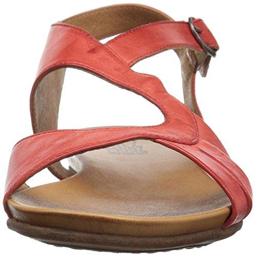 Sandaali Keskikokoinen Ashe Naisten Musta Tasainen Miz Punainen Mooz HfqwCp6