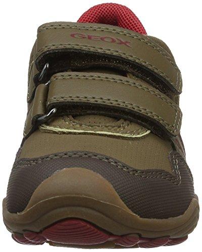 Arnoboy Kid Red JR Sneaker Boys' GEOX 38 Big EU 5 Dark 13 US M Brown 5 Ew1E4nqx
