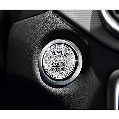 Bling Bling Crystal Car Engine Ignition Push Start Stop Button Cover Trim Ring Fit for Mercedes-Benz C E S M CLA CLS CLK GLA GLC GLE GL SL Class
