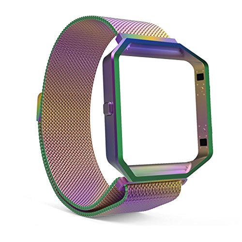 Band Plastic Link (Fitbit Blaze Accessories Band, MoKo Metal Frame Housing + Milanese Loop Mesh Stainless Steel Bracelet Strap Band with Magnet Lock for Fitbit Blaze Smart Fitness Watch - COLORFUL)