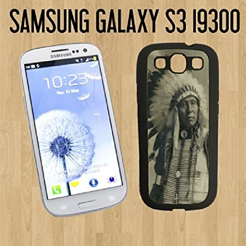 Native American Indian Chief Custom made Case/Cover/skin FOR Samsung Galaxy S3 - Black - Rubber Case ( Ship From CA) + FREE Screen (Galaxy S3 Case Native)