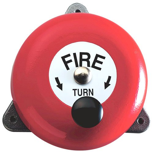 Rotary Hand Bell - Temporary Fire Alarm for Remote Areas / Building Sites - FireShield FireProtectionShop