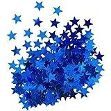 Metallic Star Confetti - Blue