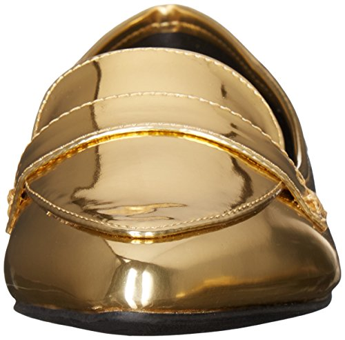 Qufid Womens Swirl-61 Slip-on Mocassino In Oro