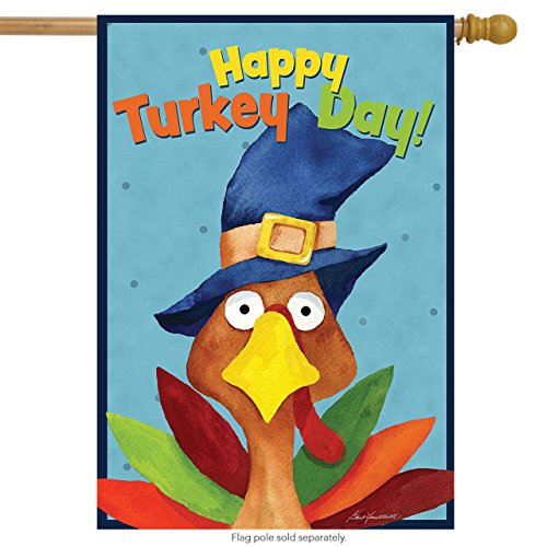 Turkey Day Thanksgiving House Flag Holiday Humor 28