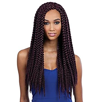 Amazon Com Que Jumbo Box Braid 2x 1 Jet Black Synthetic Crochet Latch Hook Bulk Braiding Hair Beauty