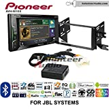 Pioneer AVH-501EX Double Din Radio Install Kit with DVD/CD Player Bluetooth Fits 2007-2014 Toyota FJ Cruiser with Amplified System