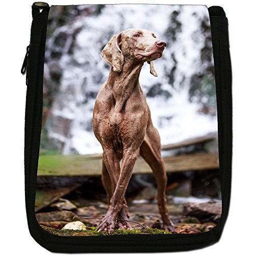 To Black Size Hunt Shoulder Weimaraner Dog Ghost Canvas Grey Ready Medium Vorstehhund Bag CCqwfTP