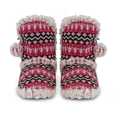 Dunlop - Zapatillas de estar por casa para mujer Rosa