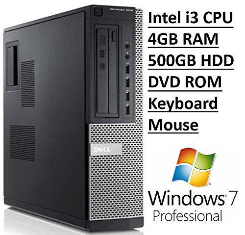 Dell Optiplex 7010 SFF Business Desktop PC, Intel Core i3 Processor, 4GB DDR3 RAM, 500GB Hard Drive, DVD ROM, Windows 7 Professional (Certified Refurbished) by Dell
