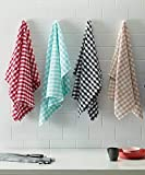 Turkish Bath Kitchen and Hand Towel Set of 4 (Multicolored)