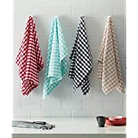 Turkish Bath Kitchen and Hand Towel Set of 4 (Multicolored)