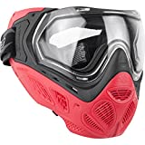 Valken Paintball MI-9 SC Goggle/Mask with Dual Pane Thermal Lens - Quick Change Foam - Red