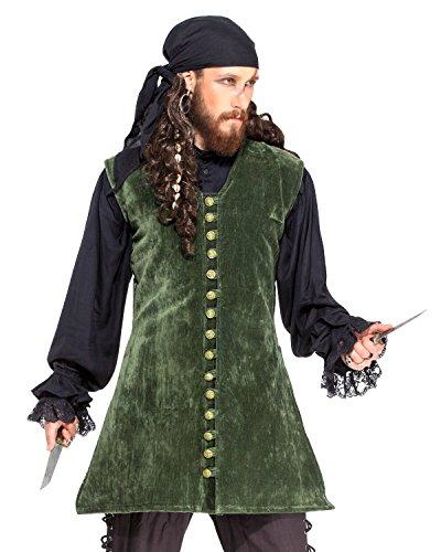 Pirat Mittelalter Renaissance Captain Nathaniel Weste Jacke Kostüm [C1420]