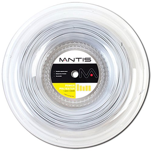 Mantis Power Polyester 16 Tennis String 200M/660ft Reel Silver