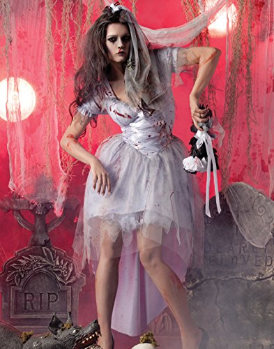 Party King Womens Zombie Bride Costume