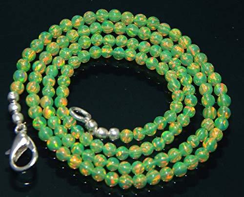 Super Quality Gemstone Beautiful Jewelry Ethiopian Green jelly Opal round Beads strand AAA+ Quality Size 3 mm Loose Semiprecious Gemstone beads 16.5'' Code-JP-2019   B07KVVV3F2