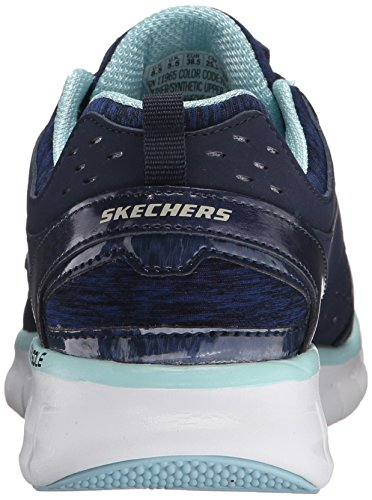 Lister Skechers Bleu Sneaker Synergie Sport Femmes Fashion Une SS1IBqw