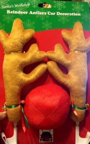 Reindeer Antlers Car Decoration by Santa's Workshop -