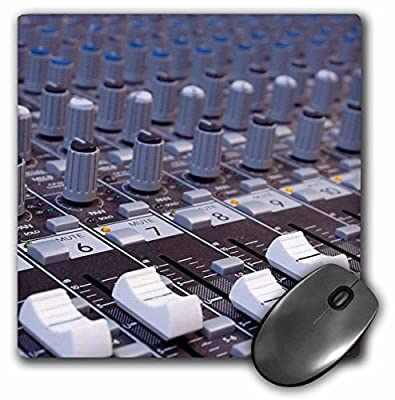 3dRose 8 x 8 x 0.25 Inches Audio Mixer Board Mixing Engineer Knobs Slider Buttons Studio Recording Mouse Pad (mp_155066_1)
