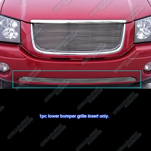 APS Compatible with 2001-2009 GMC Envoy Bumper Billet Grille Grill Insert S18-A84356G