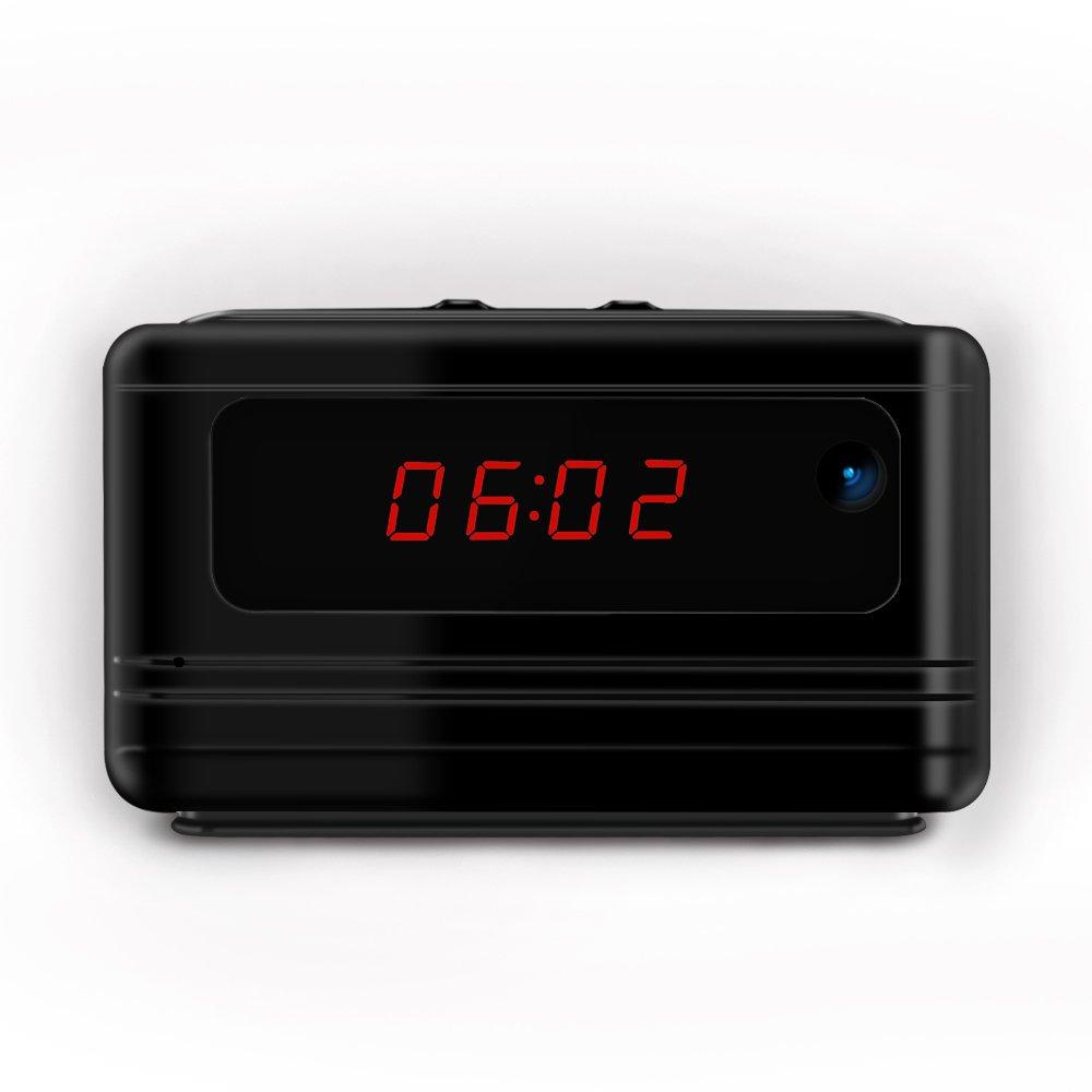 Littleadd Hidden Camera Alarm Clock 1080P Full HD Spy Camera Motion Detection Activated Loop Video Recording Remote Control Security Camera Nanny Cam