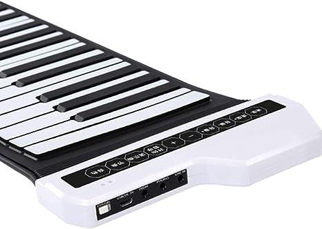 Pianos Teclados Hand Roll 61 Teclas Inteligente Portátil Teclado Midi Profesional Teclado Digital Doméstico Teclados electrónicos (Color : 61 Key ...