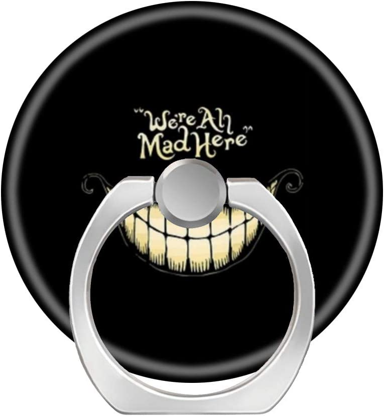 Cheshire cat hwwx 360 Degree Rotation Cell Phone Ring Socket Grip Holder Finger Pop Stand with Car Mount Work for All Smartphone and Tablets
