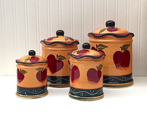 Country Apple Canister Set - 1