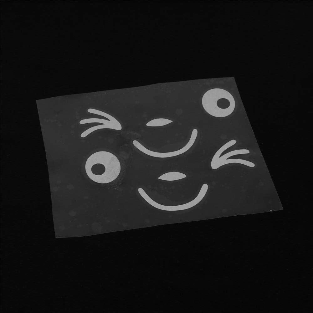 2 Stück Lächeln Gesicht Design 3d Aufkleber Dekoration Aufkleber Für Auto Seitenspiegel Autorearview Weiß Küche Haushalt