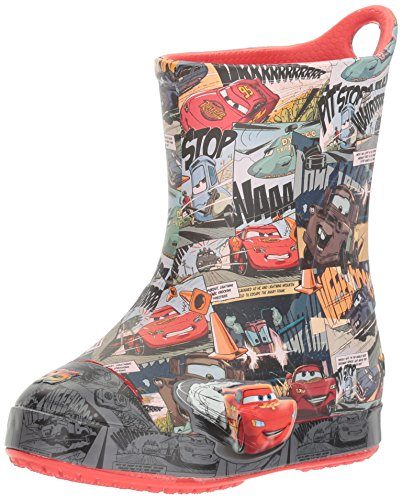 Crocs Kids' Bump It Cars K Rain Boot, Flame, 10 M US Toddler by Crocs