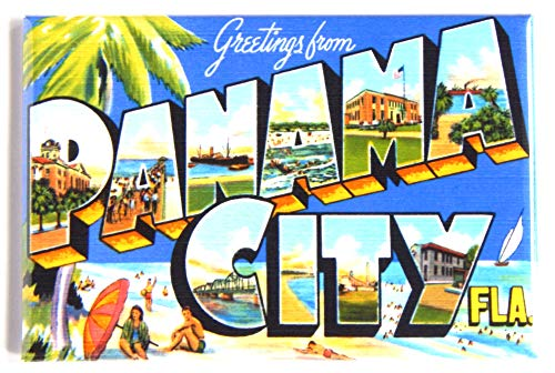 Greetings from Panama City Florida Fridge Magnet (2 x 3 inches) style B