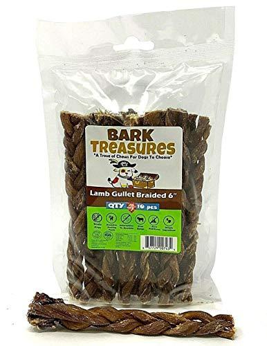 (Bark Treasures - Lamb Gullet Braids and Twists Dog Treats - Braided Esophagus - Twisted Esophagus (6