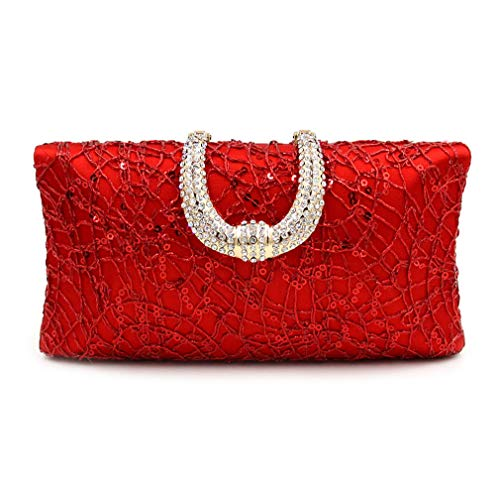 ULKpiaoliang Women Gold Bag Ladies Purse Party Evening Red Clutches Clutch Bags Female Day 11qwdr4