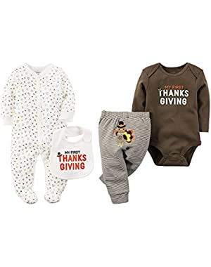 Baby 2 Pack My First Thanksgiving 2 Piece Set Unisex