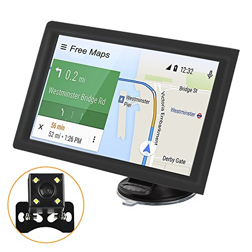 Car GPS Navigation, PEMENOL 9-inch 8GB TPS Touchscreen Android Car Navigator with US Lifetime Map Updates Built-in Bluetooth FM Transmitter MP3 MP4 Vehicle GPS Navigator with Rearview Backup Camera