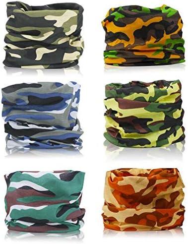 Bandana Face Mask Neck Gaiter Summer Scarf Tube Seamless Outdoor Magic Headband 9 Pack