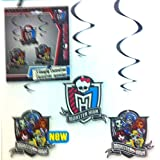 3 MONSTER HIGH HANGING DECORATIONS Kids Birthday Party Decorations & Party Supplies