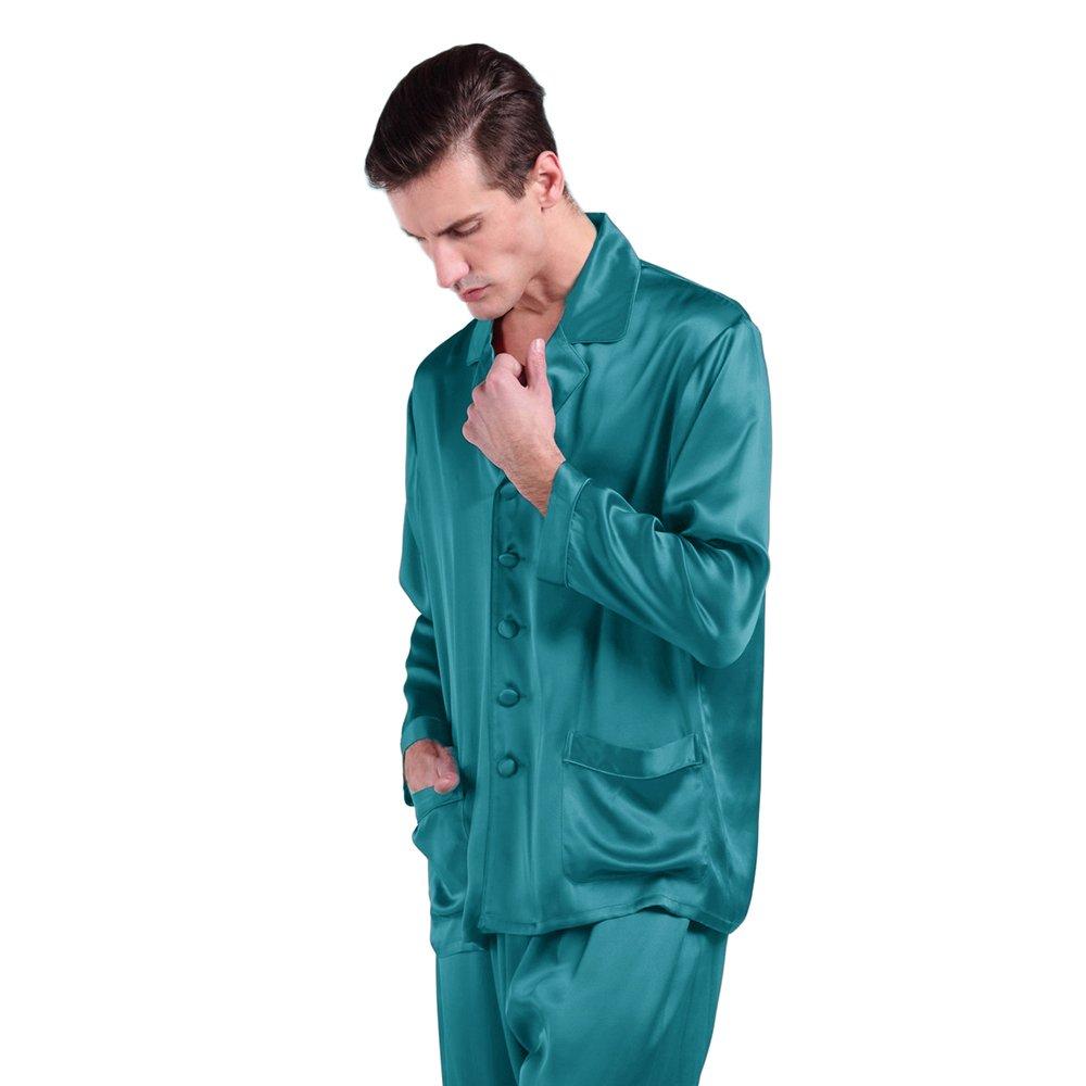 Lilysilk Conjunto De Pijamas Largas De 100% Seda Natural De 22 Momme De Grado 6A para Hombre, Azul Real, Talla XXXL: Amazon.es: Ropa y accesorios