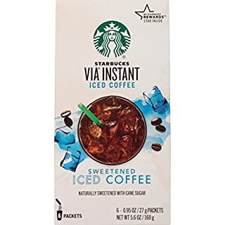 Starbucks VIA Instant Coffee, Sweetened Iced Coffee, 36 Count