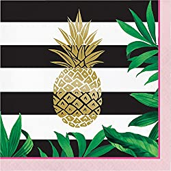 Golden Pineapple Napkins, 48 Count