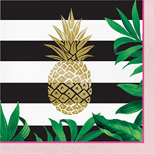 Golden Pineapple Napkins, 48 ct