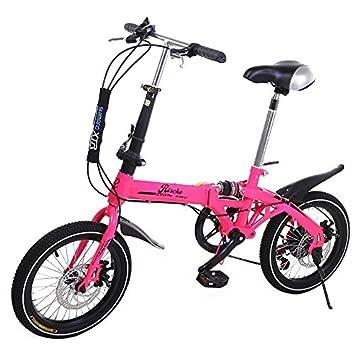 Bicicleta plegable rosa