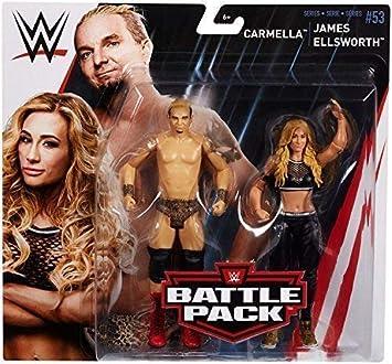 wrestling figure battle pack basic series 53 mattel action wrestler Lucha Libre Carmella & James Ellsworth WWE Básico Colección 53 #2018 Accesorios de Acción: Amazon.es: Juguetes y juegos