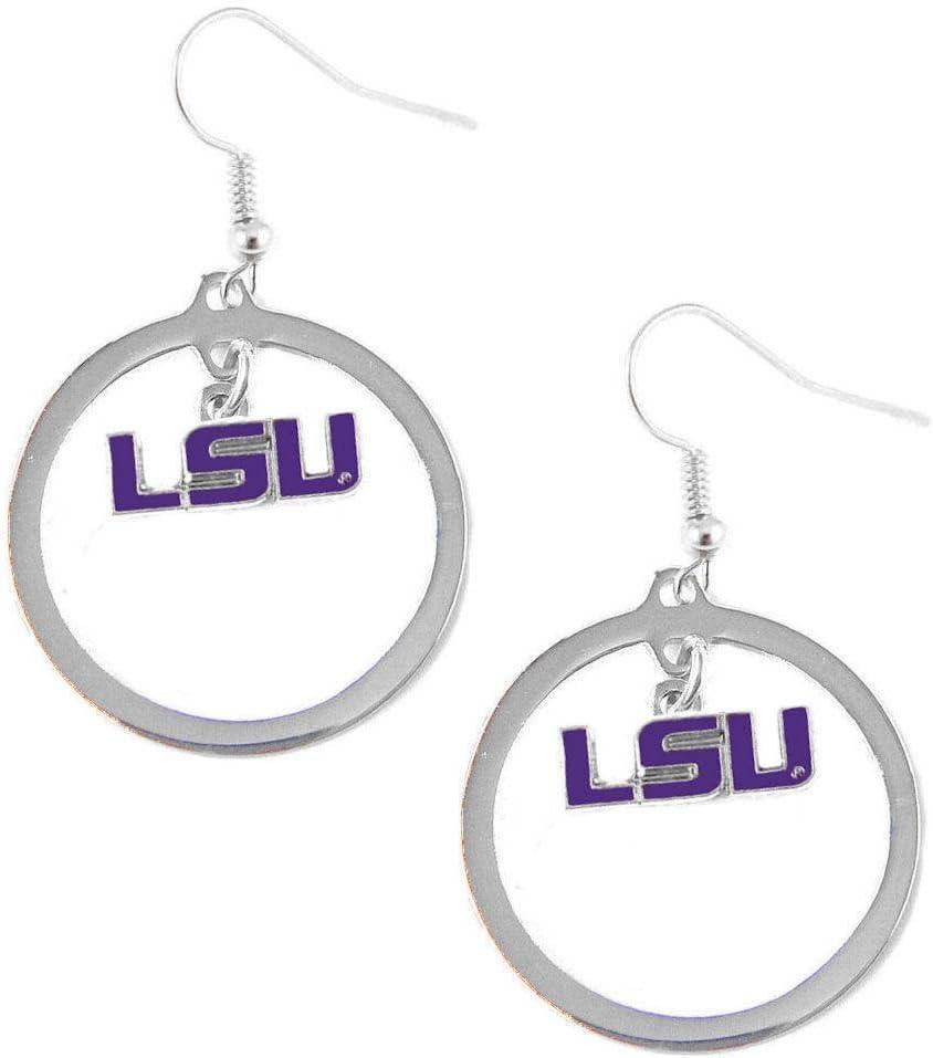 NCAA Floating Logo Hoop Earrings