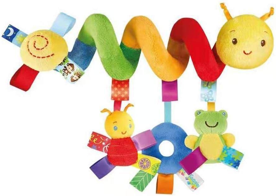 Insectos de dibujos animados Sonajeros colgantes Cochecito en espiral Asiento de coche Juguete educativo de felpa para beb/és Ni/ños Ni/ñas Kid Baby Spiral Bed Cochecito de juguete con campana